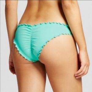 NWOT Shade & Shore Aqua Cheeky Bikini Bottom